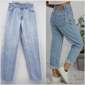 Vintage Womens Levi's High Rise Jeans Tapered 8/29